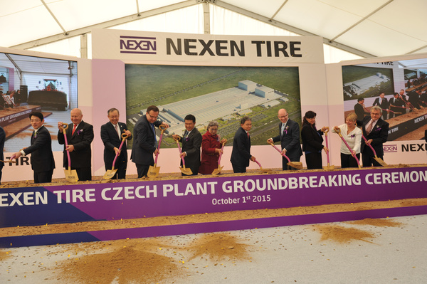 NEXEN TIRE Holds Groundbreaking Ceremony for its New Plant in Zatec, Czech Republic