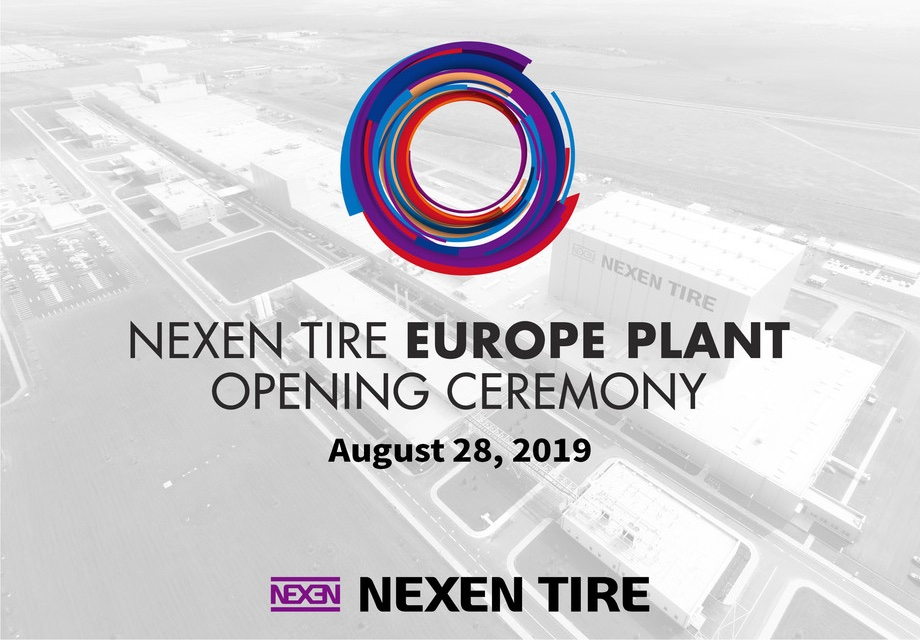 Travis Kang, the Global CEO of NEXEN TIRE is celebrating the opening of the Europe Plant with a welcome and vision speech